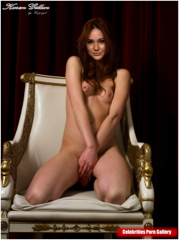 Karen Gillan Nude Titty See Through Pics Enhanced