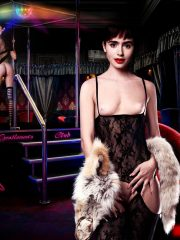 Lily Collins Hot Naked Celebs
